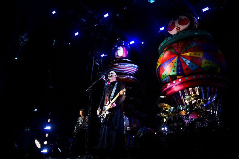Smashing Pumpkins perform on the third day of the 2019 Alive Festival in Oeiras in the outskirts of Lisbon, Portugal, on July 13, 2019. The band headlines Riot Fest on Friday night