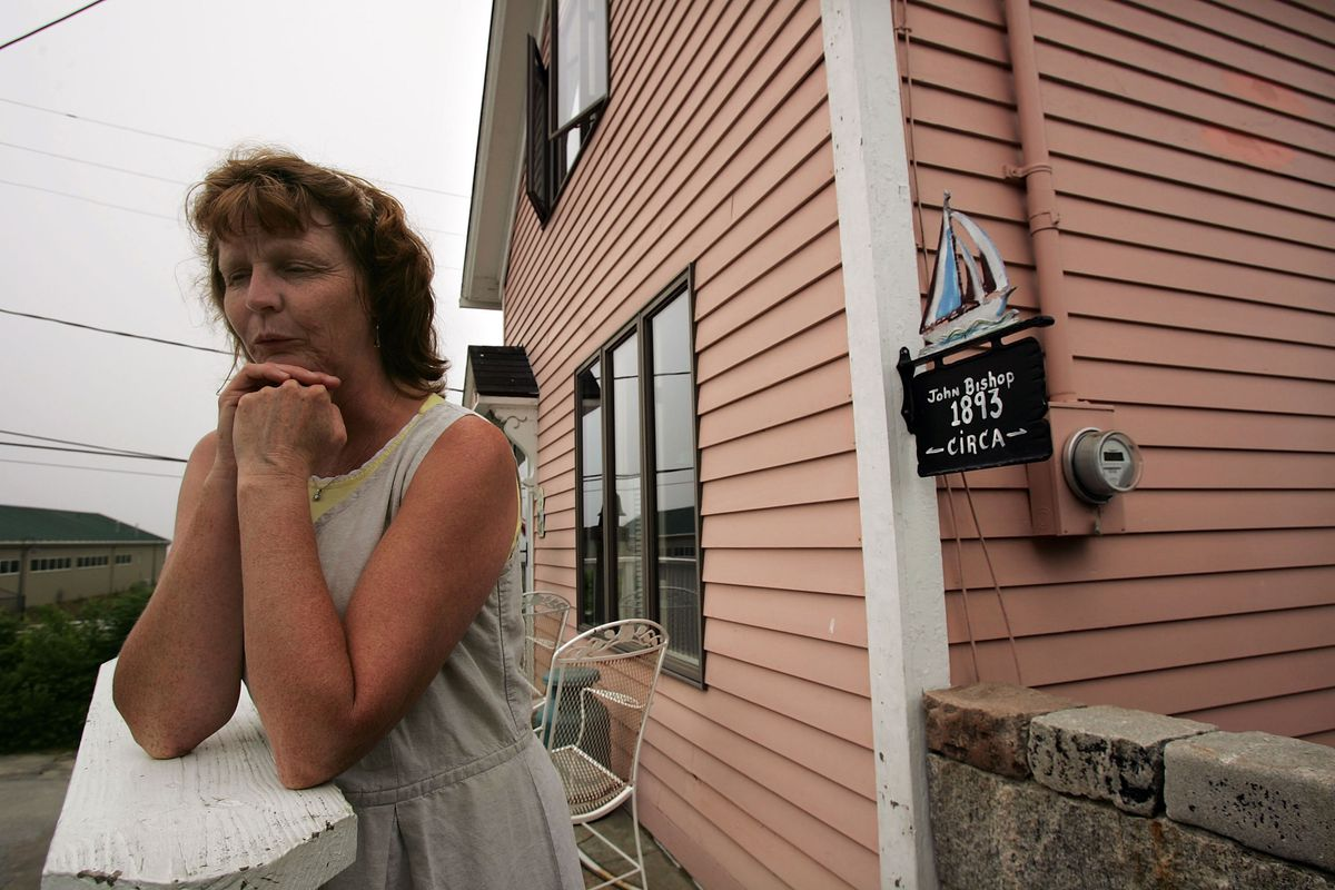 Susette Kelo, a few months before the Supreme Court let the city of New London take her property.