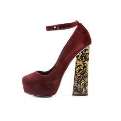 <b>Aperlai</b> Red Velvet Heel, $316 (was $790)