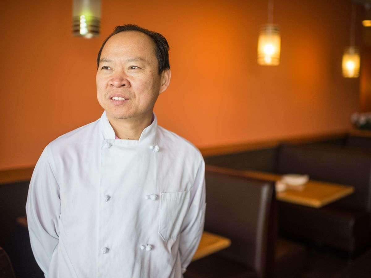 Peter Chang at his Arlington restaurant