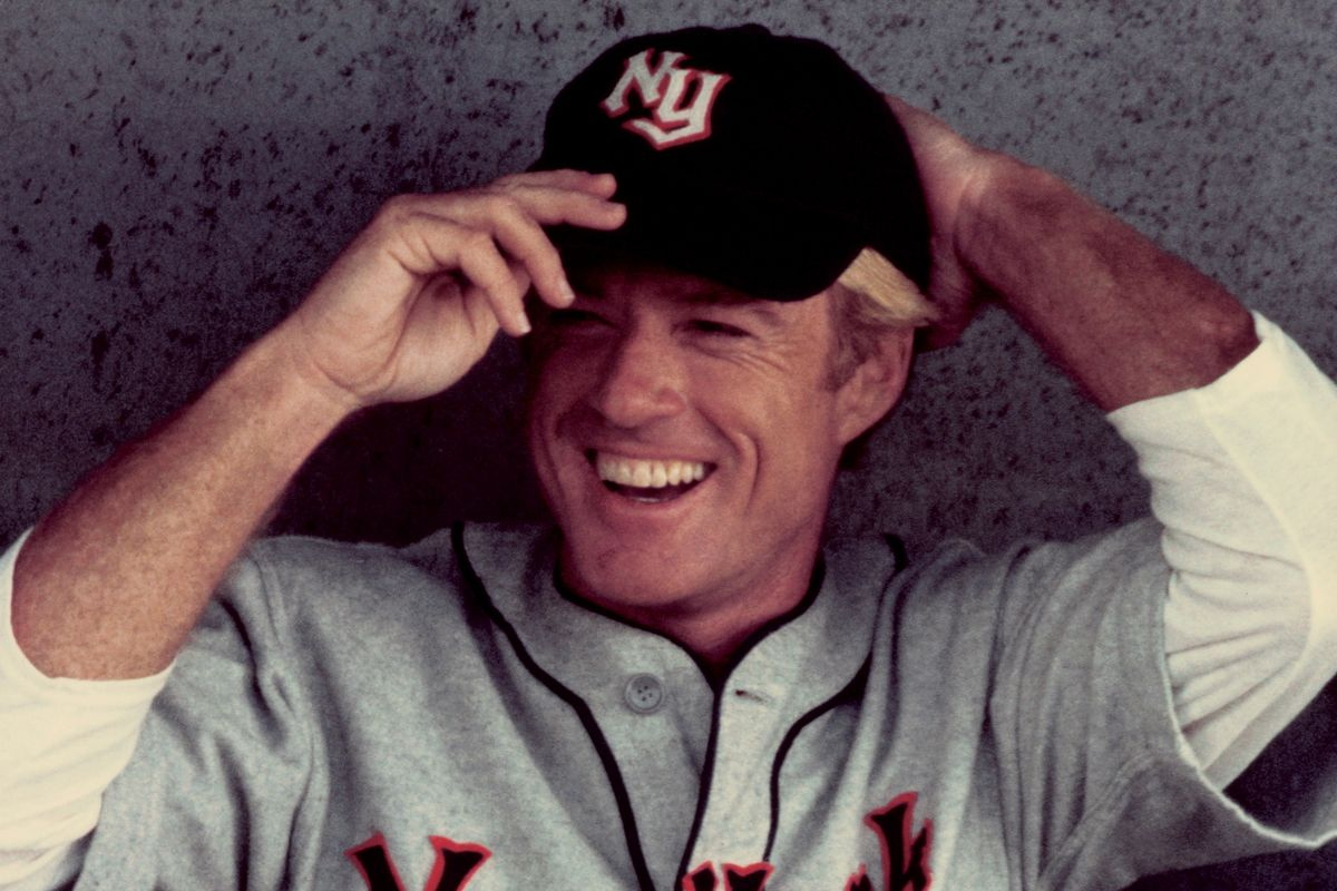 Robert Redford in his New York Knights uniform from the movie The Natural