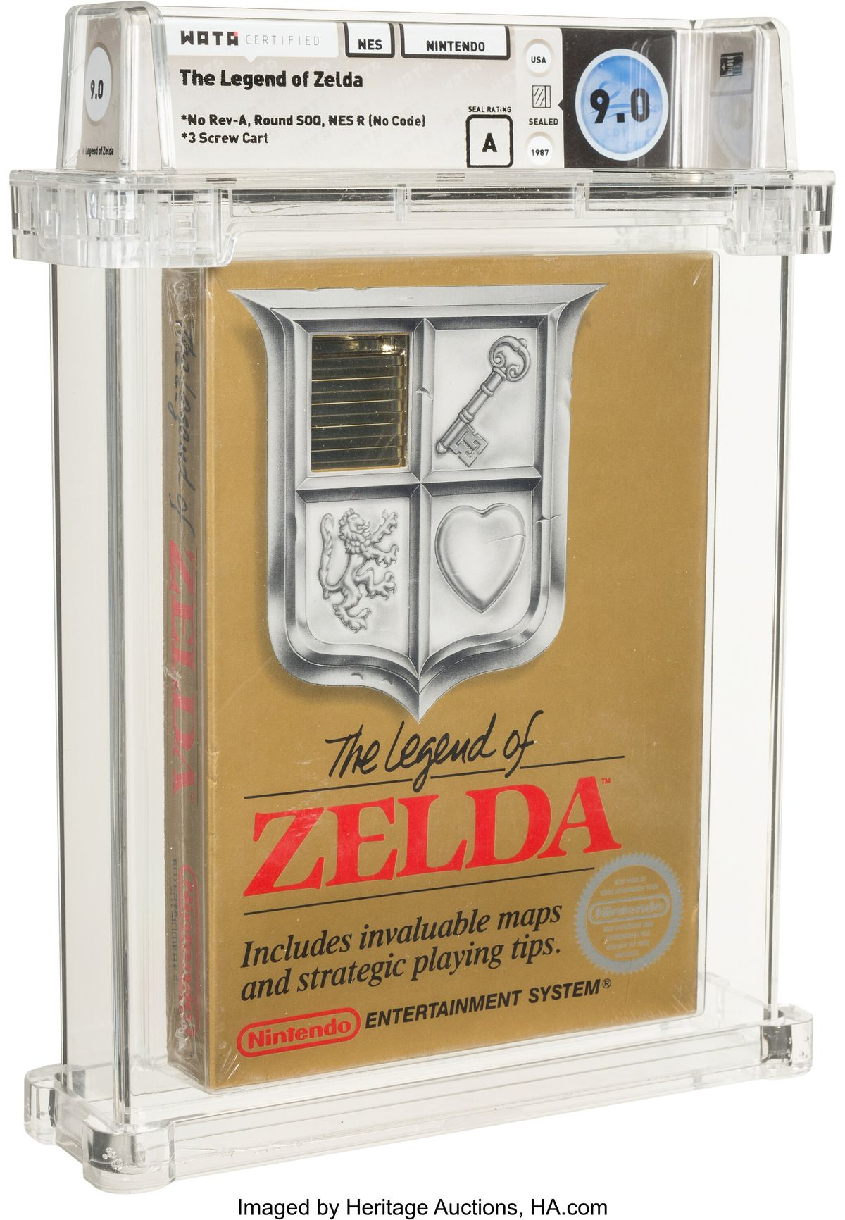a picture of a sealed Zelda cartridge