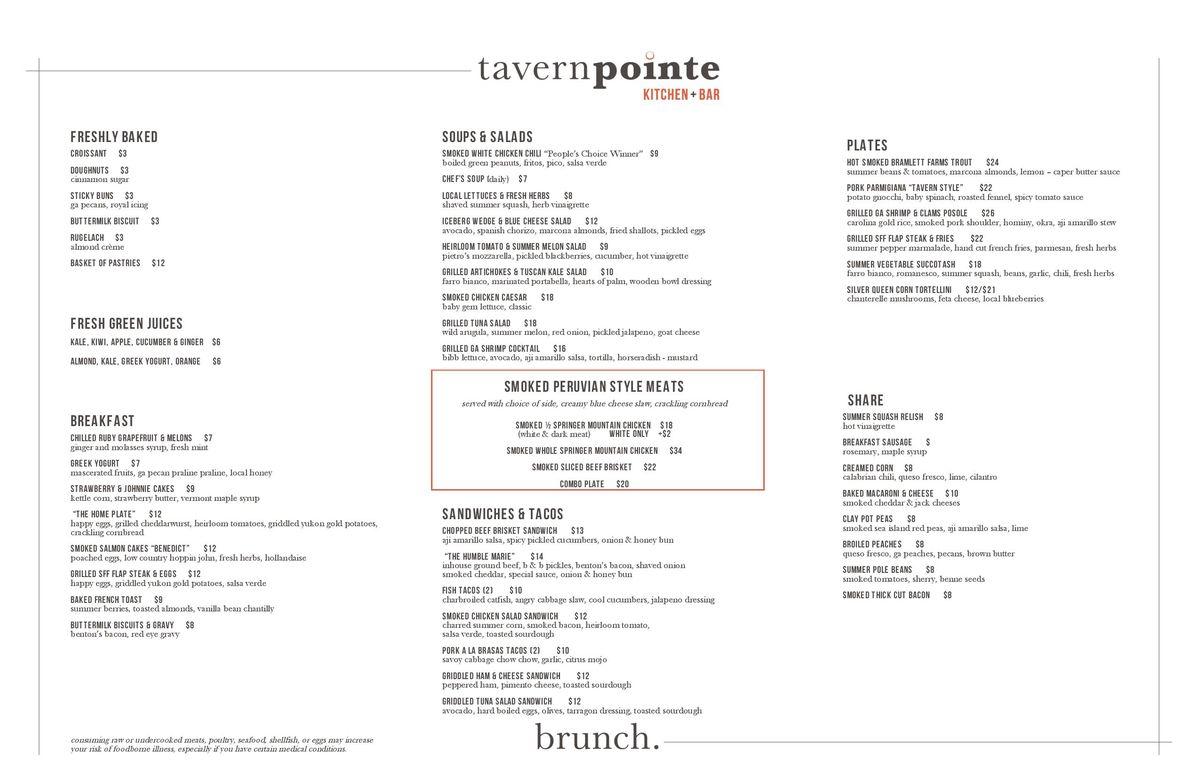Tavernpointe menu 3