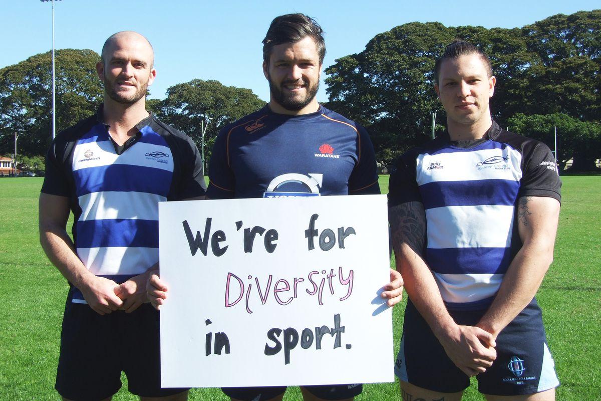 Australia rugby player Adam Ashley Cooper (center).