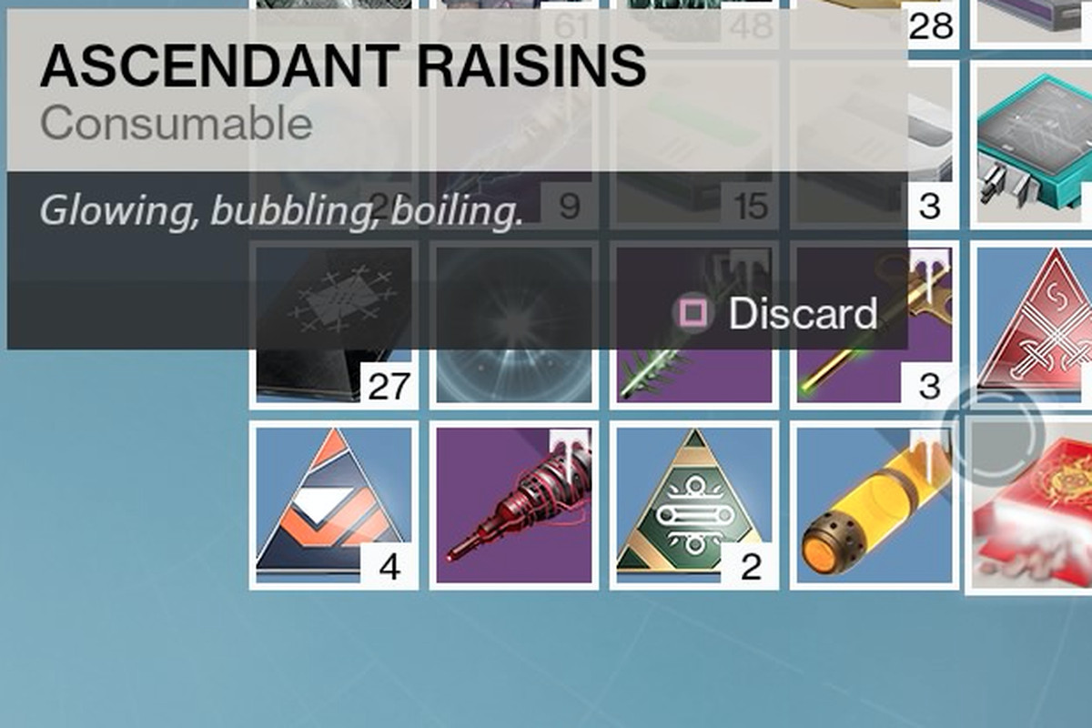 Destiny - Ascendant Raisins