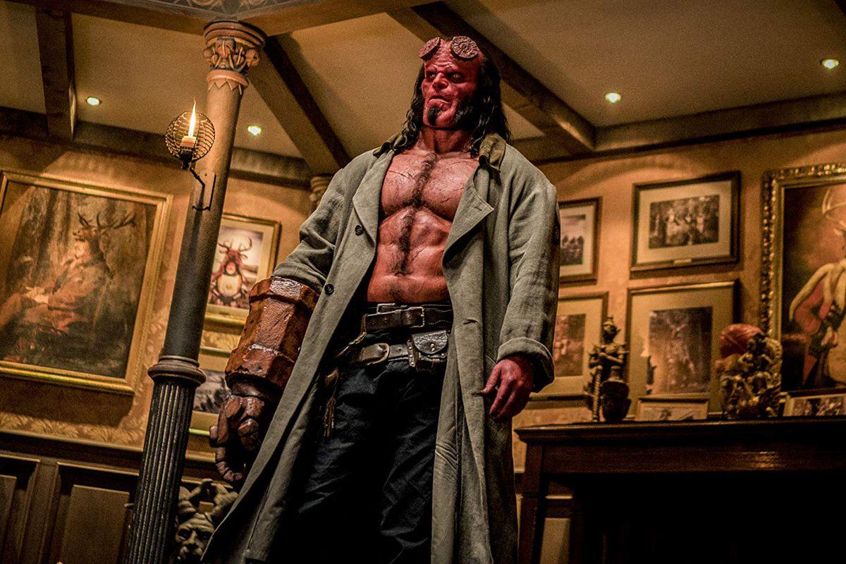 David Harbour as Hellboy in Hellboy