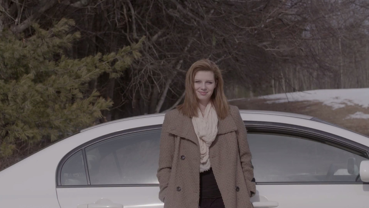 This young woman has a car.