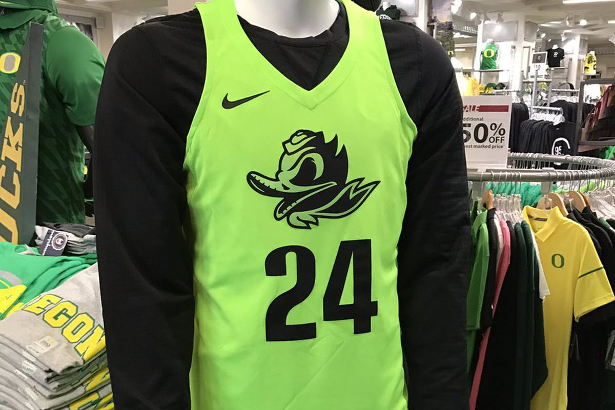 "sports shoes 9741e 27842 Oregon basketball gets new ""Electric Green"" uniforms ..."