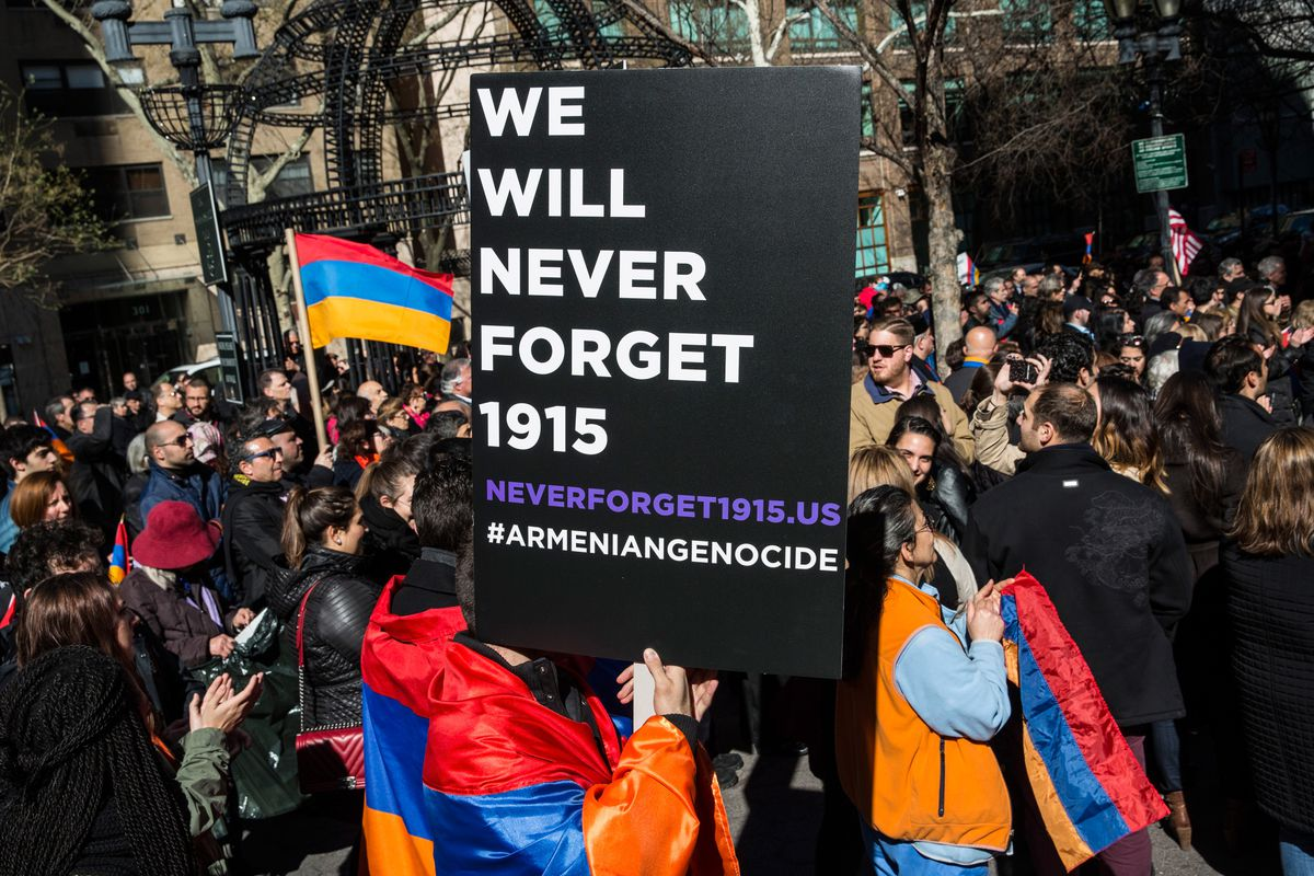 An Armenian remembrance march in New York City.