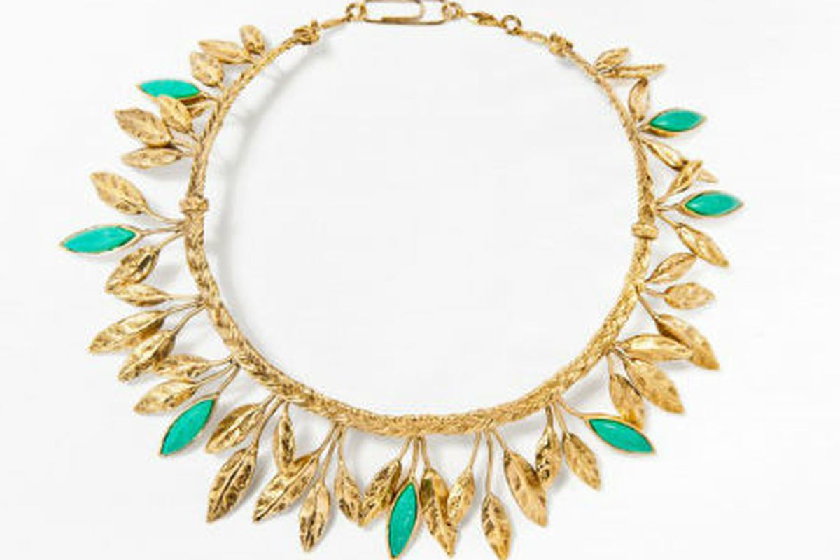 "Aurélie Bidermann's Malibu Blue <a href=""http://aureliebidermann.com/edito/en/galeries"">necklace</a>"