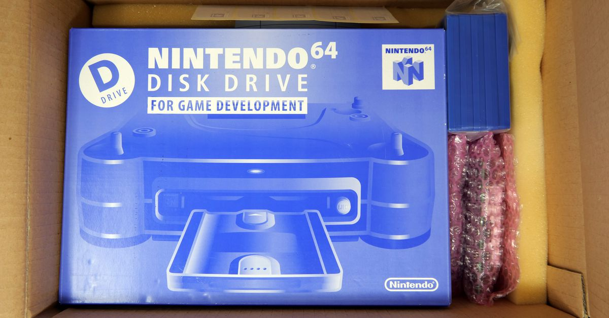Take a trip back to 1997 with a never-opened Nintendo 64 Disk Drive dev kit