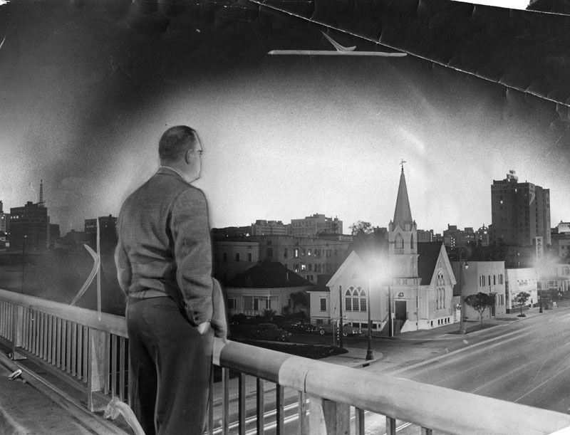 Man watches light from bomb test