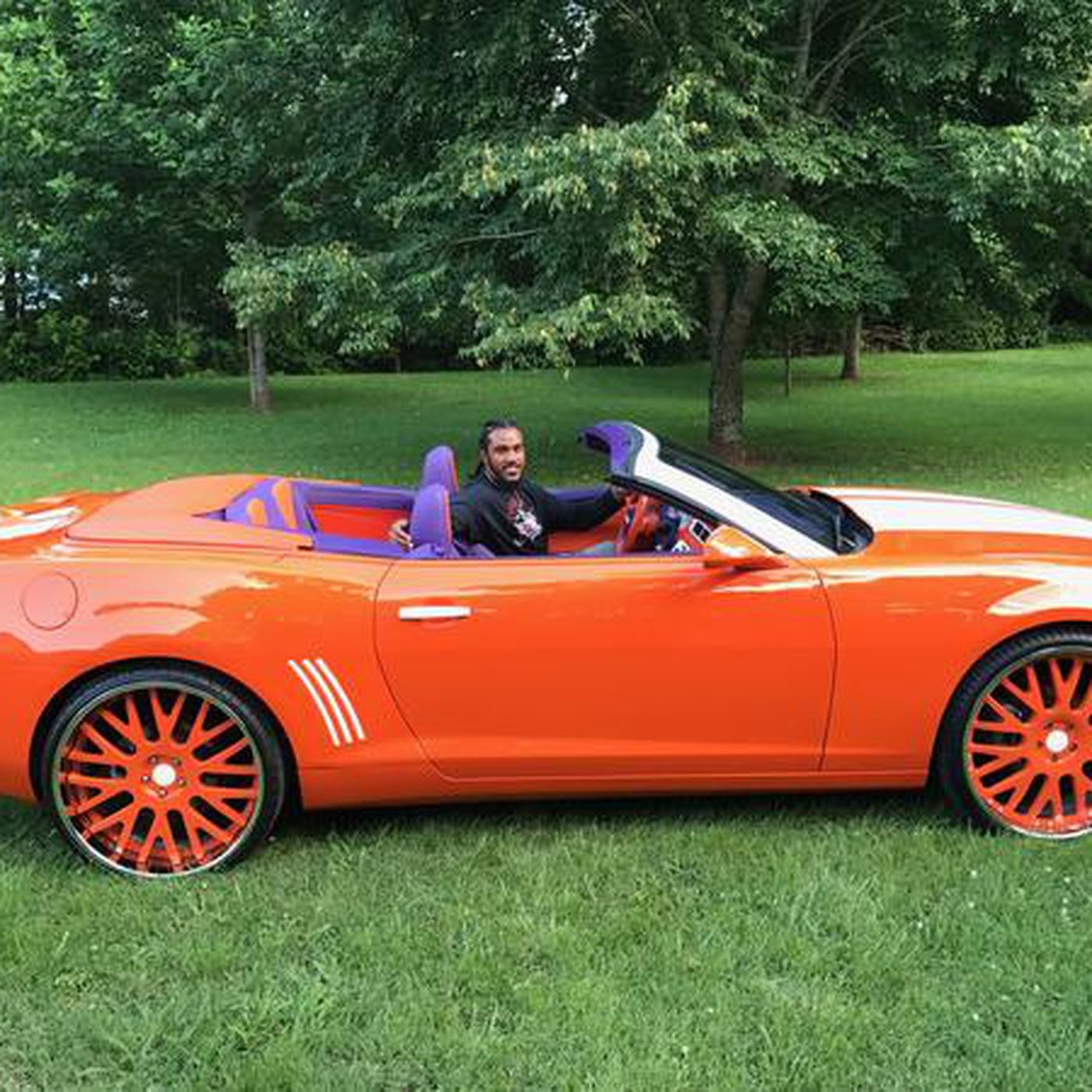 more photos 4e466 b8361 You have got to see Vic Beasley's Clemson-themed Chevy ...