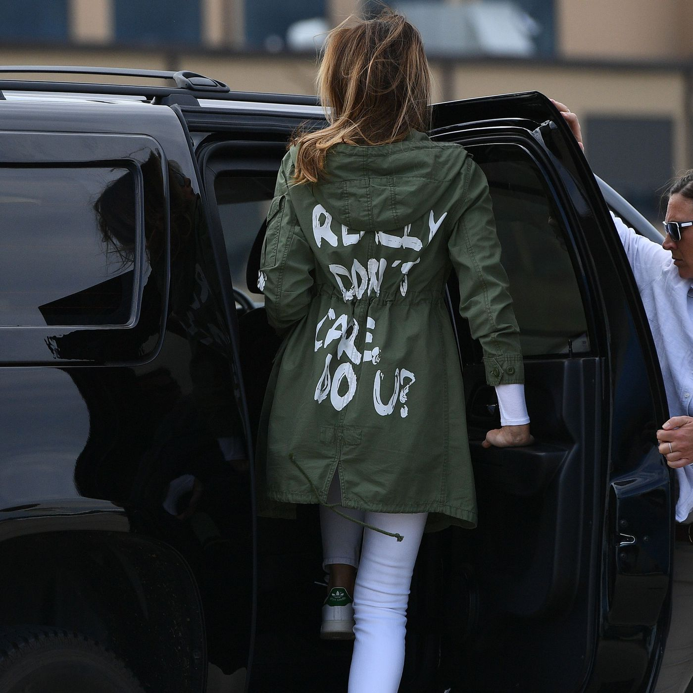 5dbd35d6 Melania Trump's jackets and heels are how we try to understand her - Vox