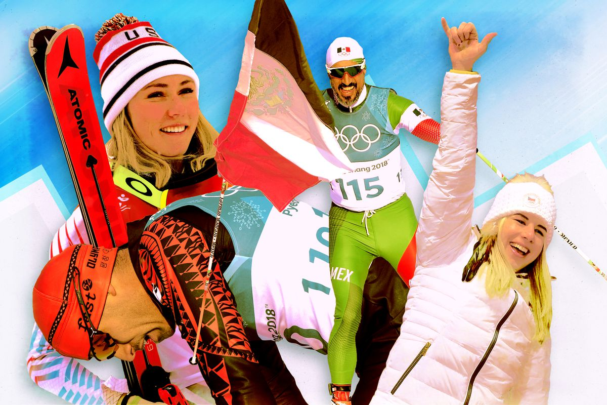 A collage of Olympic athletes celebrating