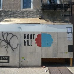 """Root Hill Burger in Gowanus by <a href=""""http://www.dnainfo.com/new-york/20120903/gowanus/new-gowanus-burger-joint-serves-up-artisanal-bites"""">DNAinfo</a>."""