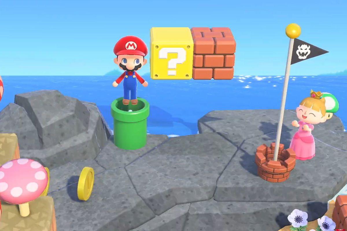 Super Mario items in Animal Crossing: New Horizons