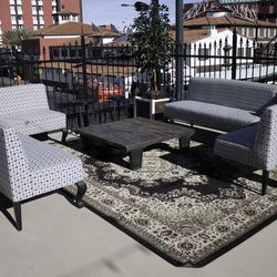 Seating on the 2,000-square-foot patio at Commonwealth.