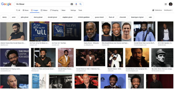 Donald Glover image search.