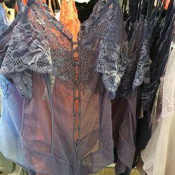 Lace bodysuit, size 2, $50 (was $538)