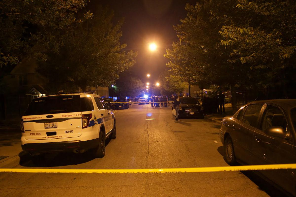A man was fatally shot and two security guards were wounded in a shooting in University Village. | Matthew Hendrickson / Sun-Times