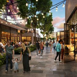 The Point of the Mountain State Land Authority has released new renderings of what the southern Salt Lake County development might look like, including this retail area.