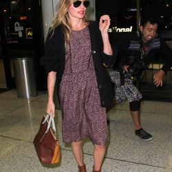 Actress, designer and newlywed Kate Bosworth arrives at LAX.