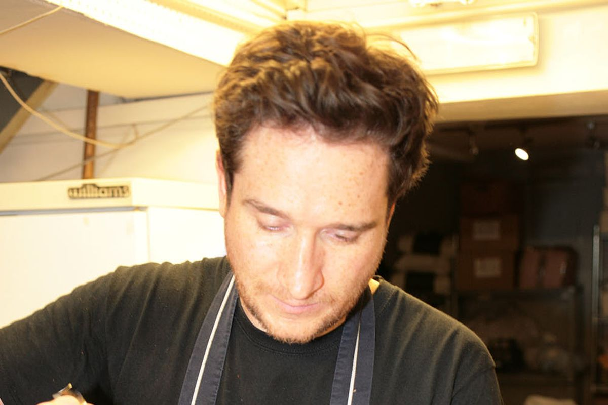Chef Nick Bramham preparing meals for Deliver Aid NHS workers in the kitchen at Quality Wines