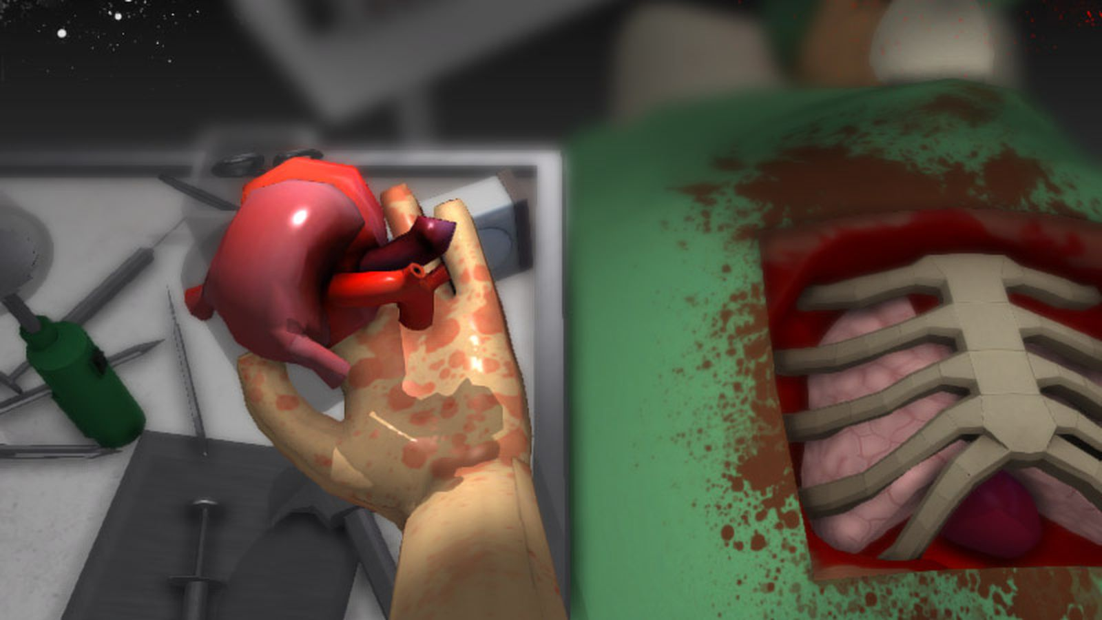 surgeon simulator 2013 brings qwop style awkwardness to heart