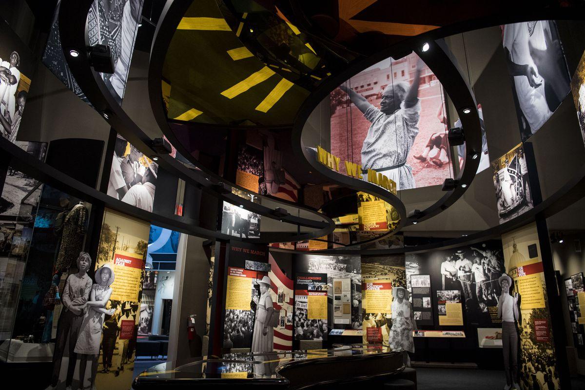 Interior of Mississippi Civil Rights Museum