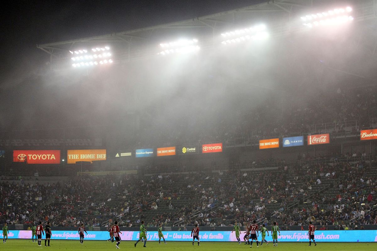 CARSON, CA - OCTOBER 22: Mark your calendars: March 11 will be the home opener for Chivas USA (Photo by Victor Decolongon/Getty Images)