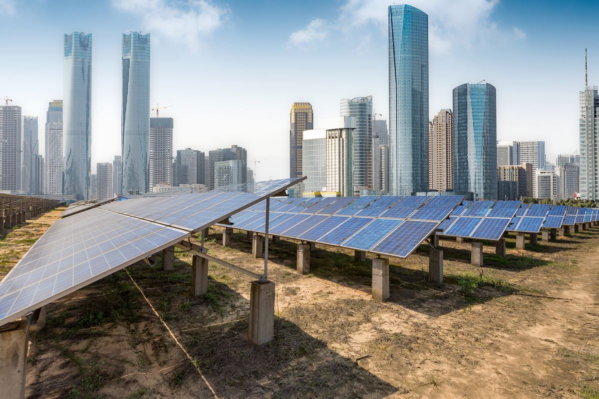 Solar panels in Shanghai