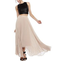 """<strong>Alice and Olivia</strong> Norris Side Pleat Sunburst Maxi Skirt, <a href=""""http://www.aliceandolivia.com/norris-side-plt-snbrst-mxi-skt.html"""">$396</a>"""