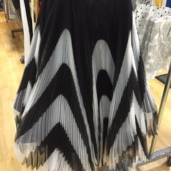 Long black and white skirt, $209 (was $898)