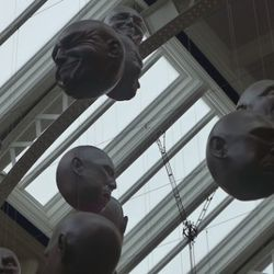 Hanging from the ceiling of the Kelvingrove Art Museum.
