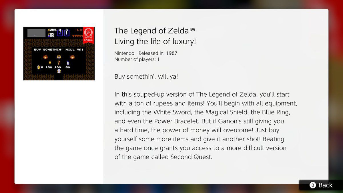 The Legend of Zelda: Living the life of luxury!