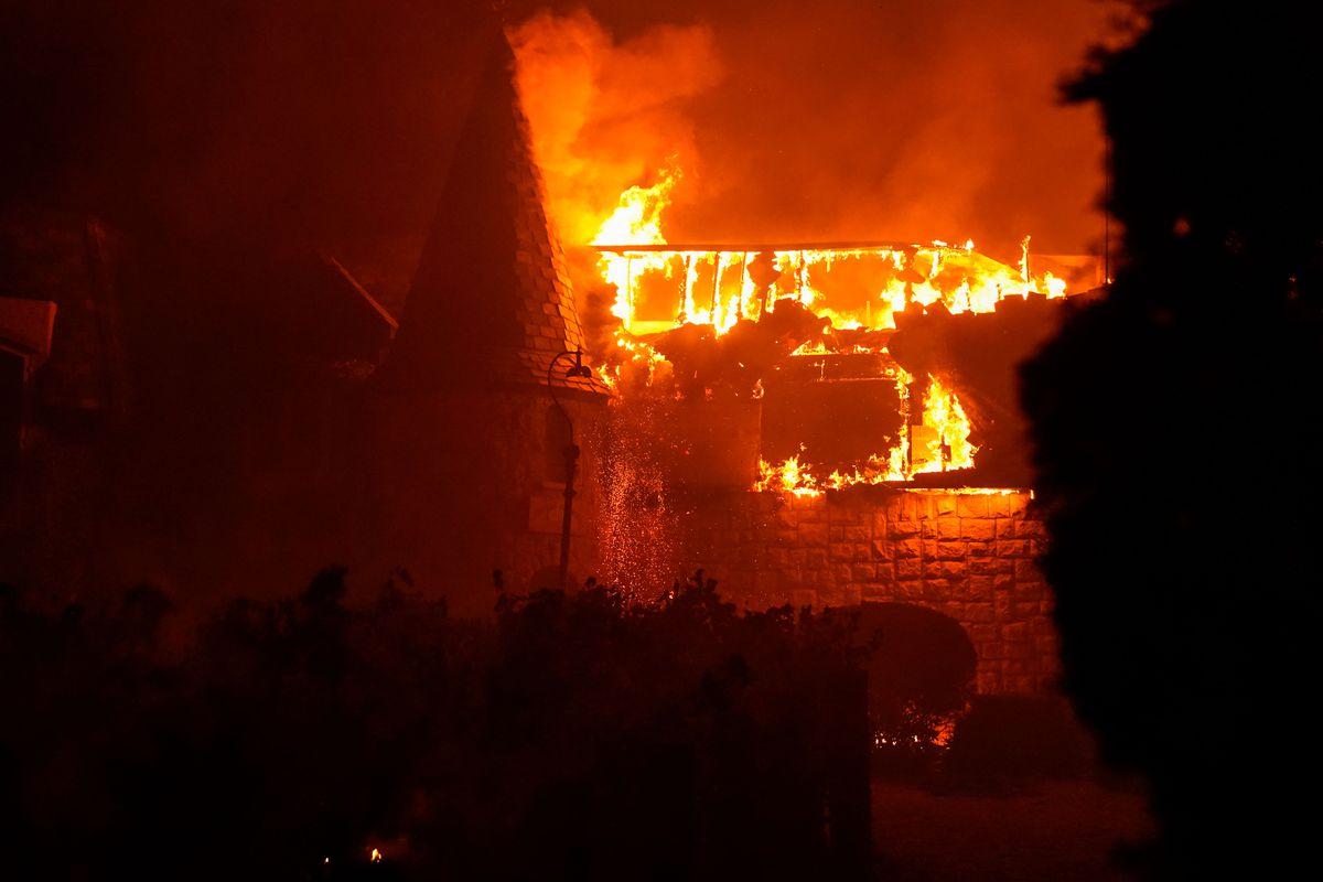Glass Fire Napa California