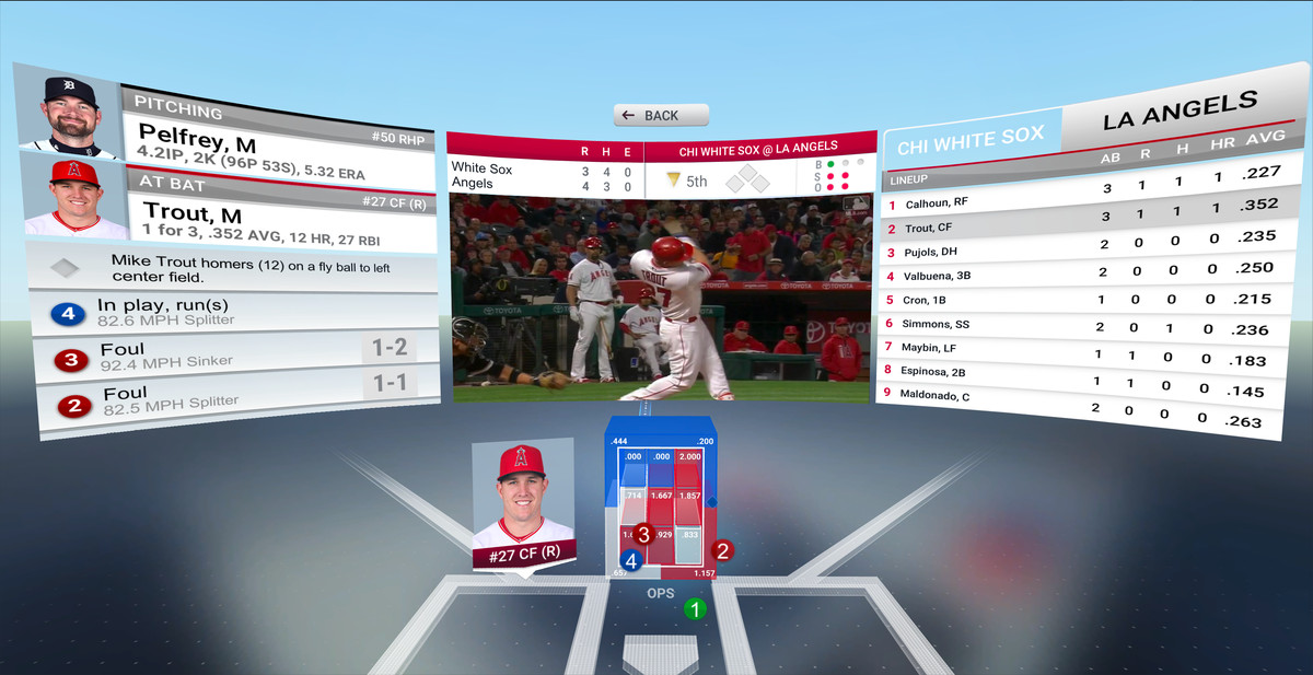 MLB.com At Bat VR - strike zone with OPS