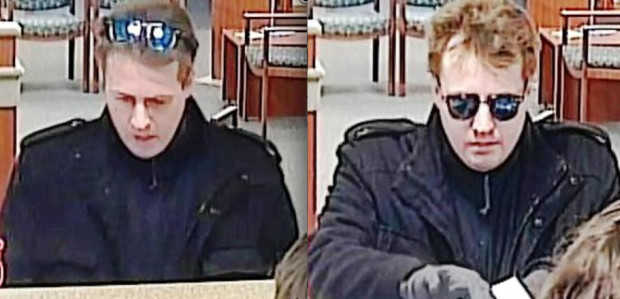 Surveillance images of the man suspected of robbing a Fifth Third Bank branch on Feb. 3 in Elgin.   FBI
