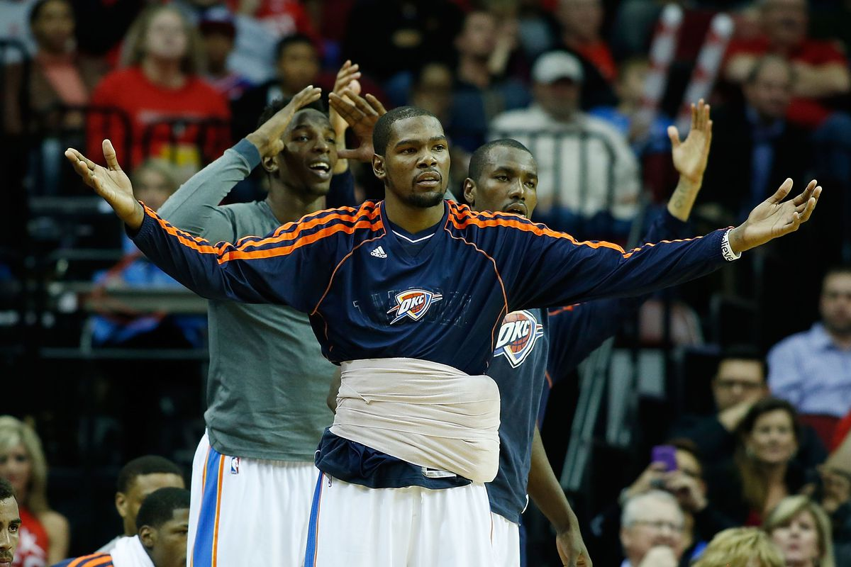 Kevin Durant likely isn't very happy about his rating dropping 2 points.
