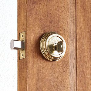 <p><strong>Stand-alone Deadbolt</strong><br>A keyed knob by itself doesn't offer much in the way of security. So it's usually paired with a deadbolt. One-cylinder deadbolts unlock with a key on the outside and a thumbturn on the inside. Double-cylinder deadbolts are keyed on both sides. While that provides extra security on doors with glass or sidelights — an intruder can't smash the glass and open the door — it slows escape during a fire. One solution, required in some places by code, is a doub