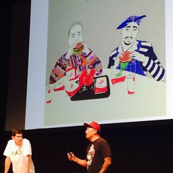 Roy Choi and Daniel Patterson discussing their plans for Loco'l