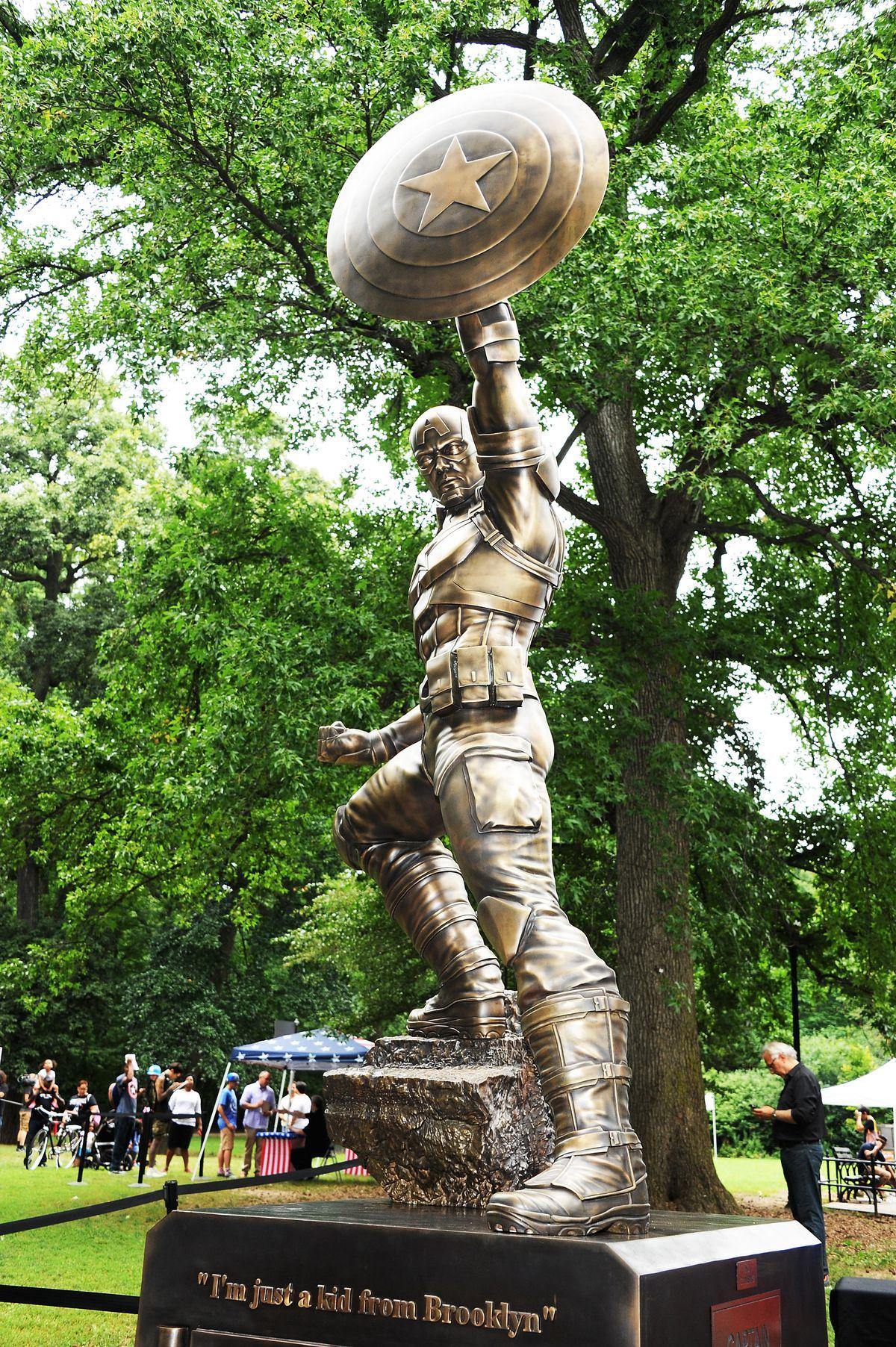 Captain America Statue Dedication Ceremony