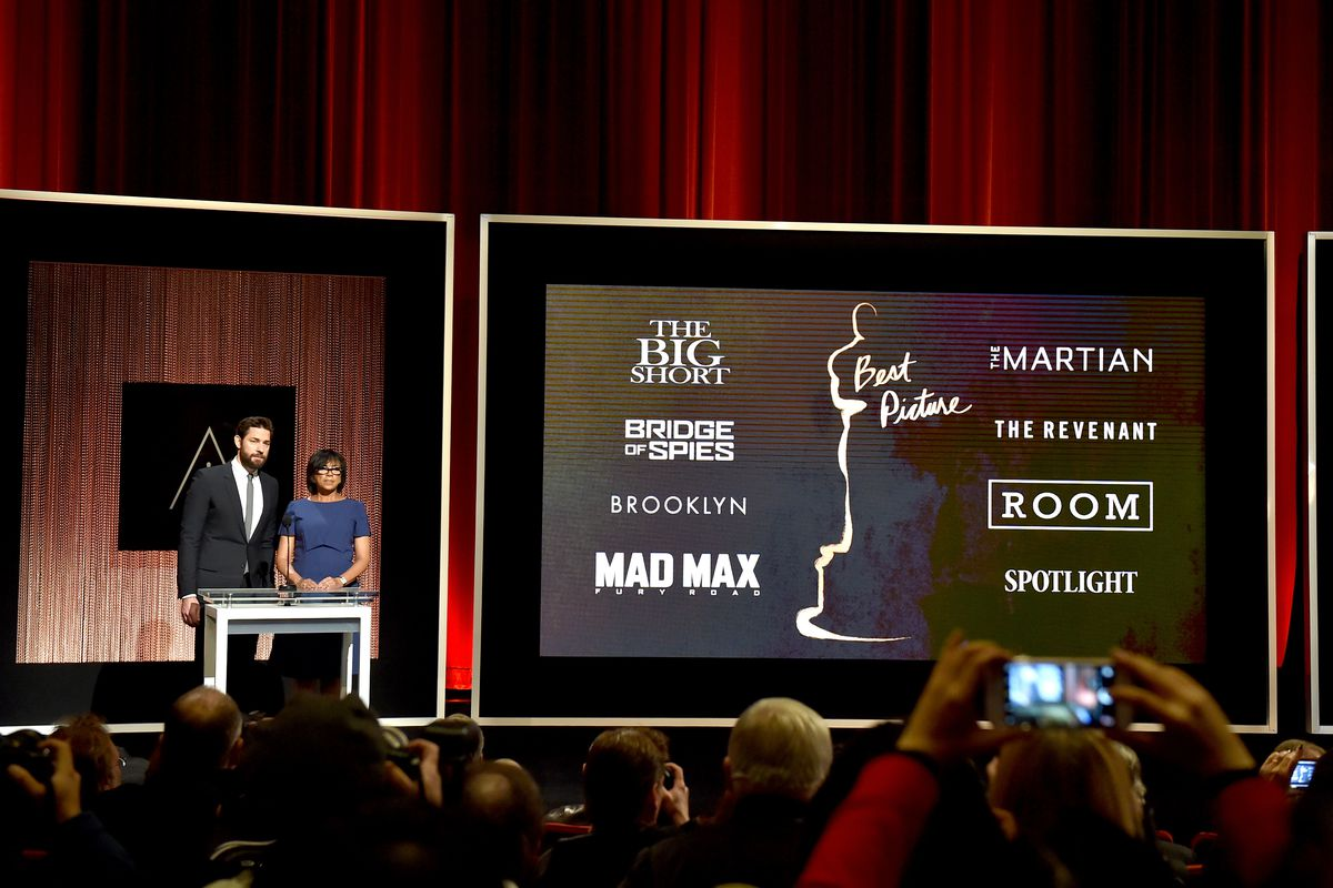 The Oscar nominees for Best Picture are announced.