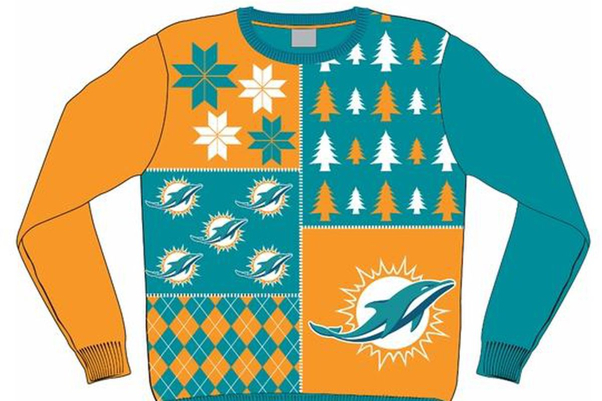 new arrival 4deb7 c799d NFL Ugly Sweaters Dolphins style - The Phinsider