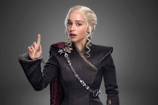 Emilia Clarke as Daenerys in season 7 of Game of Thrones.