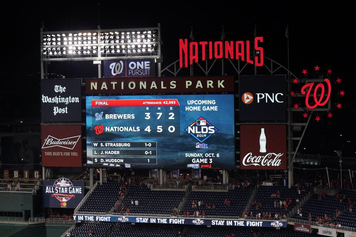 Wild Card Round - Milwaukee Brewers v Washington Nationals