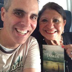 Drina Munroe and Jason Wright on a flight.