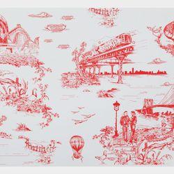 Brooklyn Toile Wallpaper by Vincent J. Ficarra and Adela Qersaqi, $200/roll