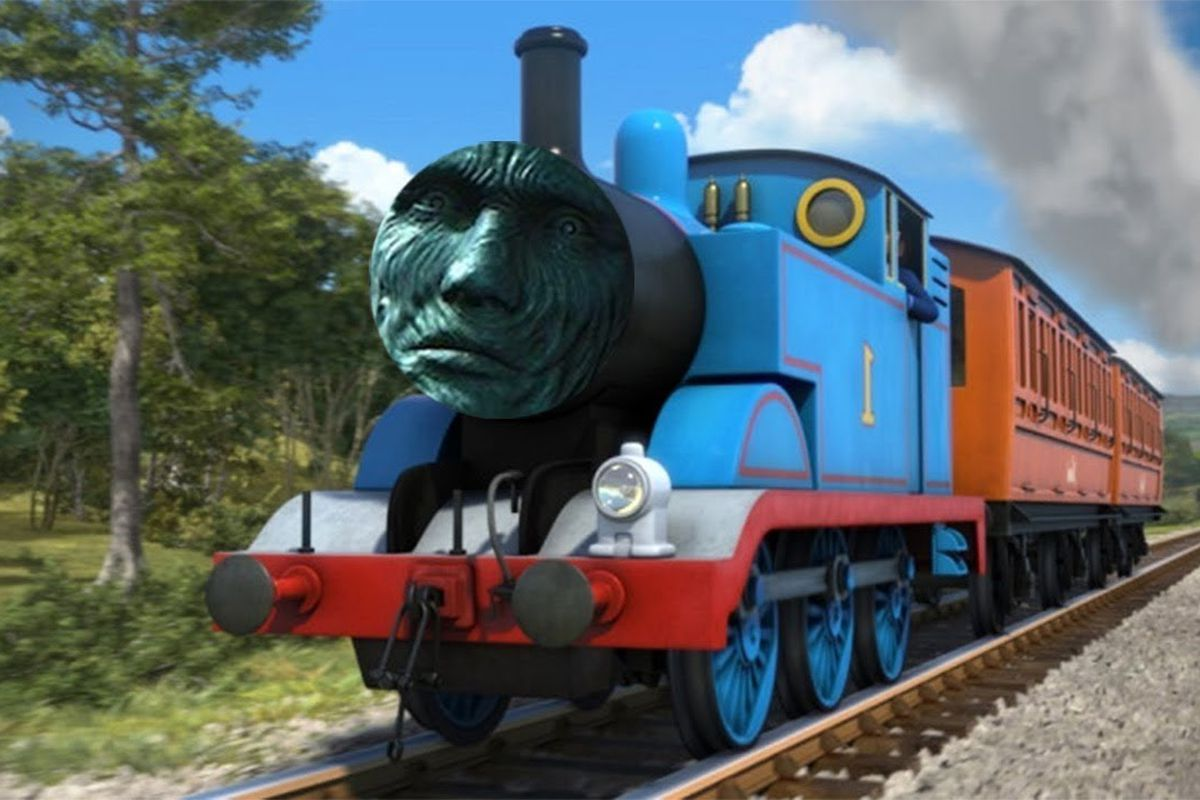 It's just a picture of Exceptional Thomas the Train Logo